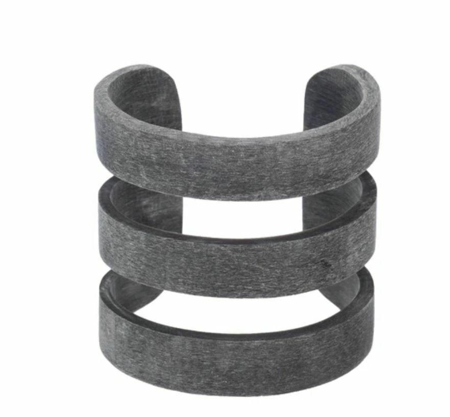 Cuff - 3 Band - Dark Grey