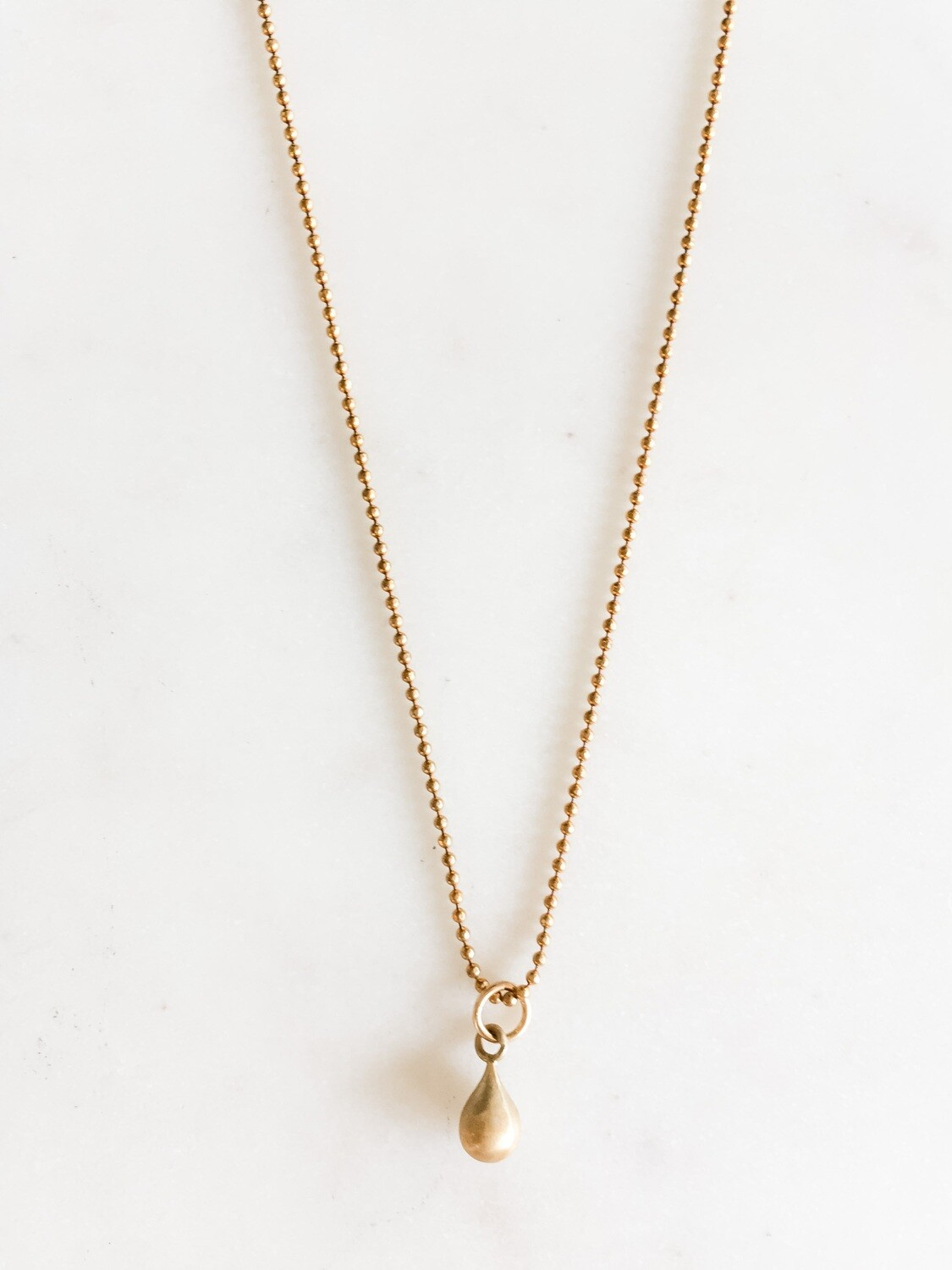 """Gold Chain with Charm - 18"""""""