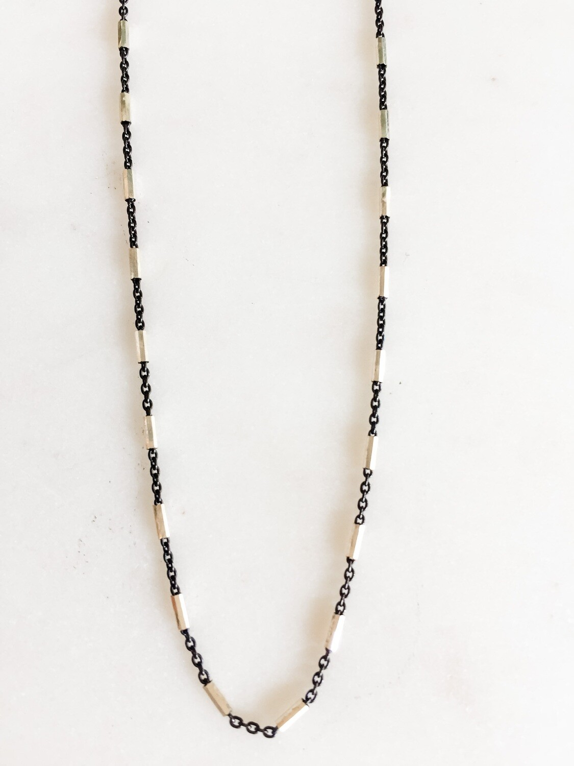 TD466 Blackened Sterling Bead Chain - 18""