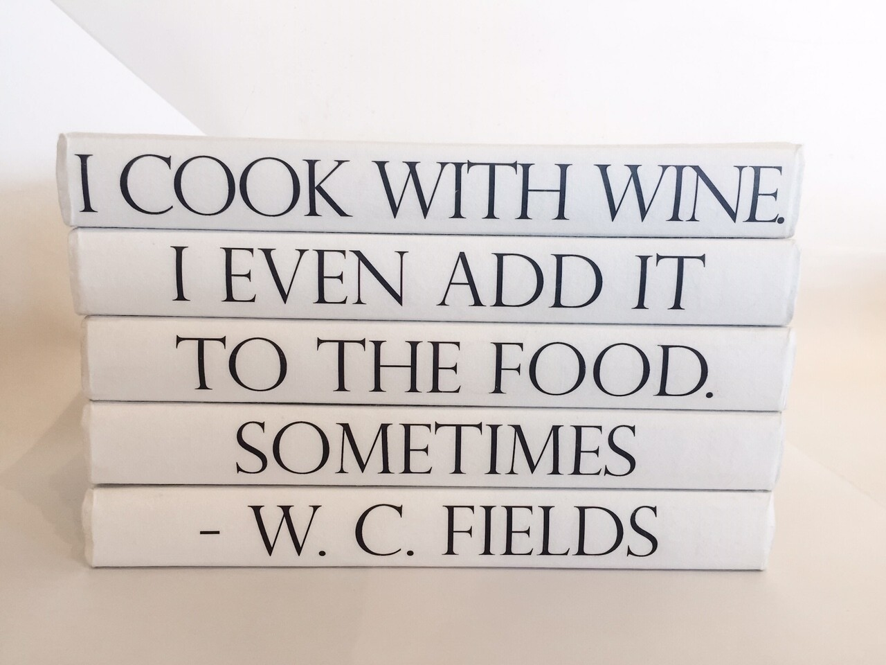 Cook With Wine Decorative Books S/5