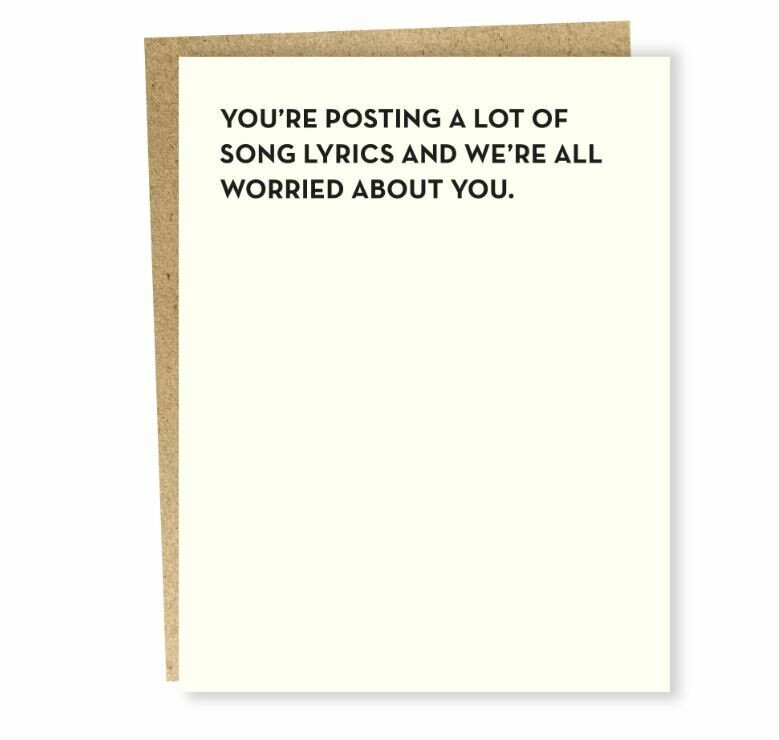 SG076 Song Lyrics Card