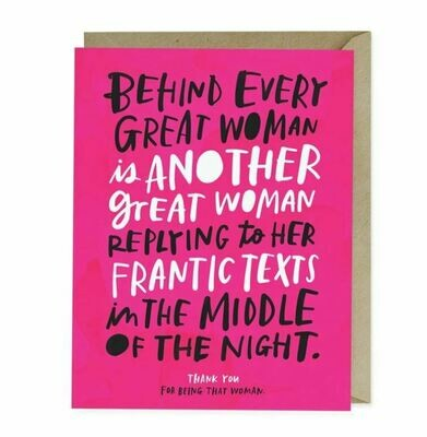 EM010 Every Great Woman Card