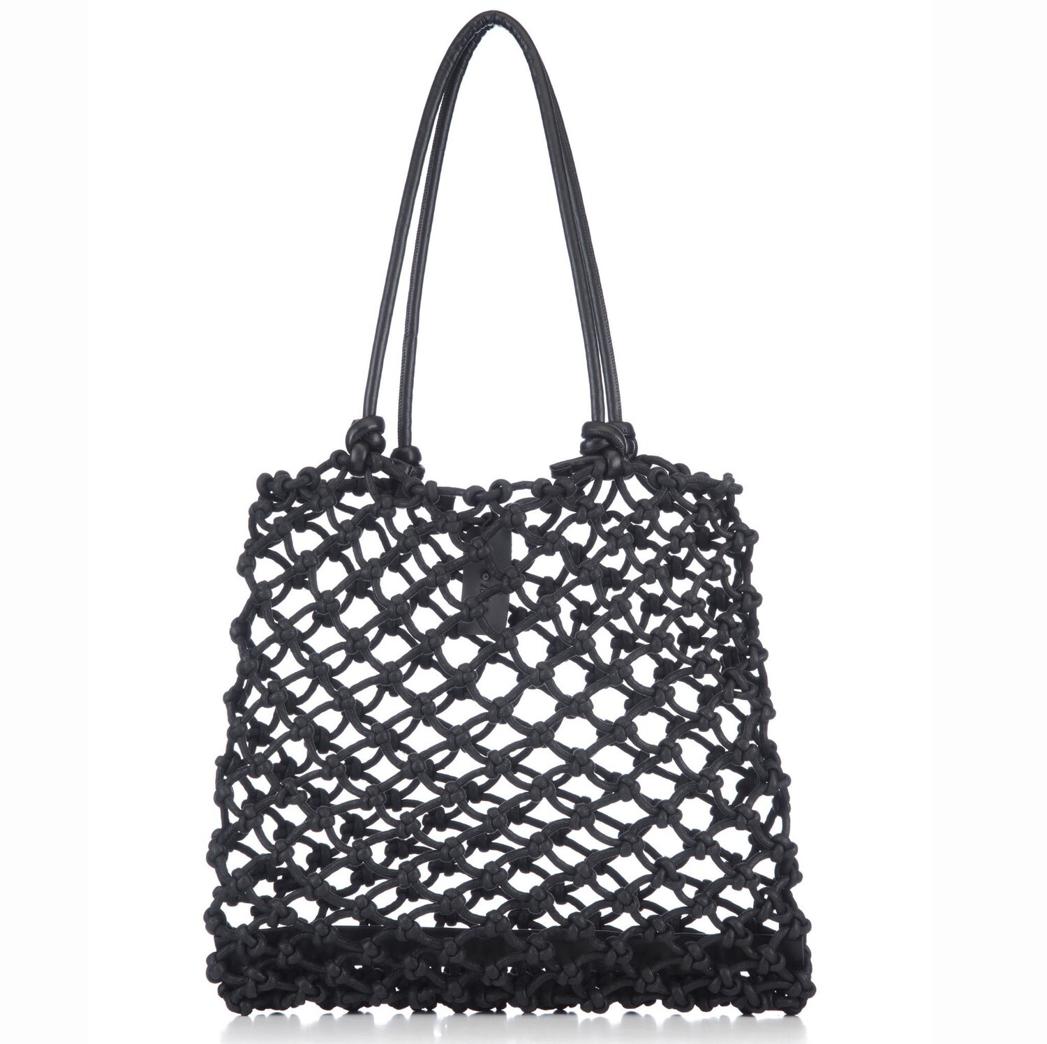 Knotted Tote in Black