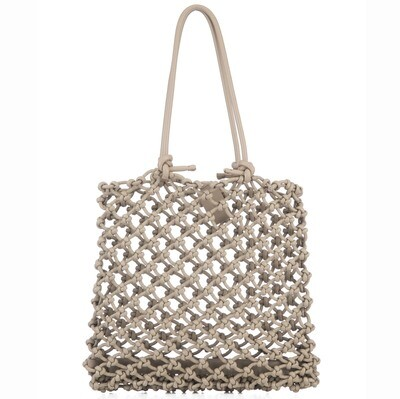 Knotted Tote in Tan