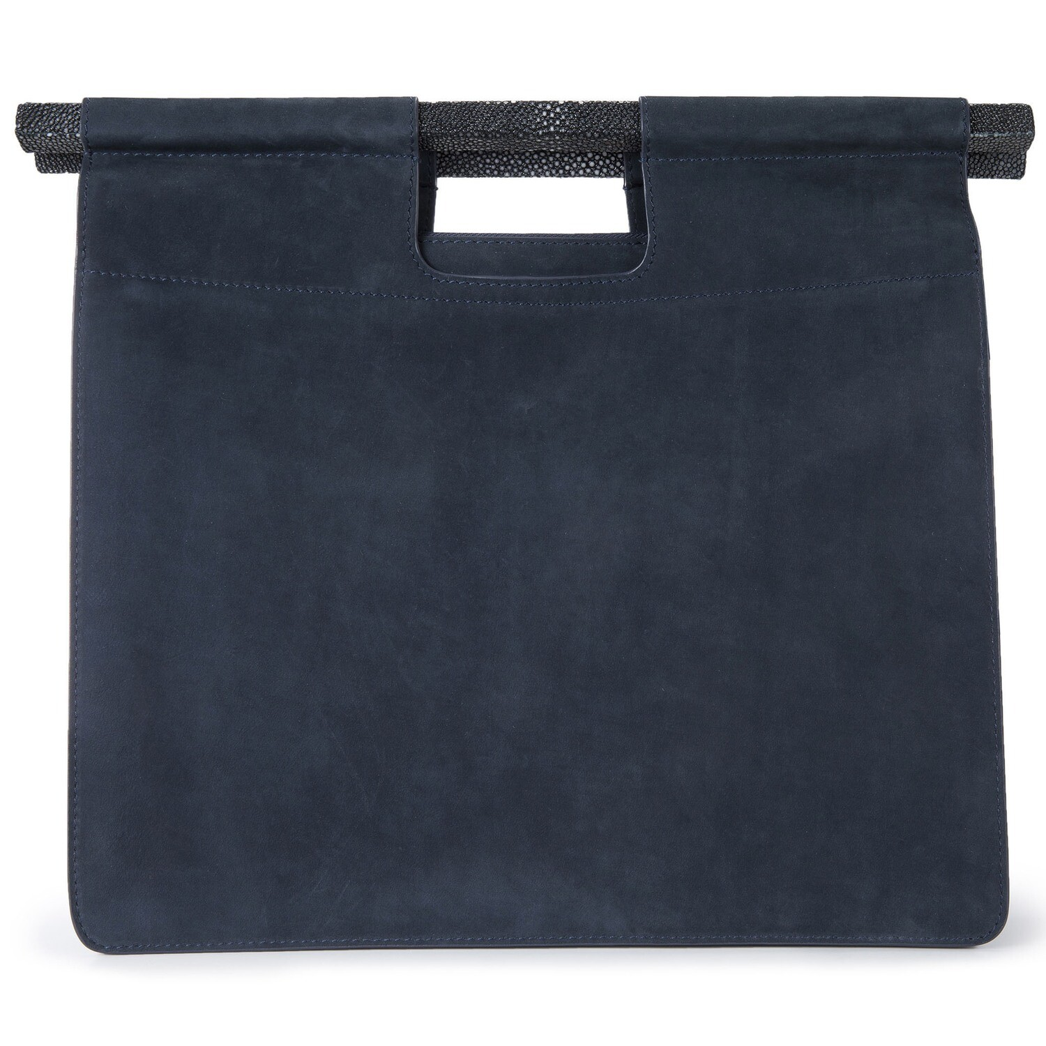 Work Tote in Pewter Nubuck with Strap