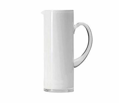Scandi Glass Jug, White