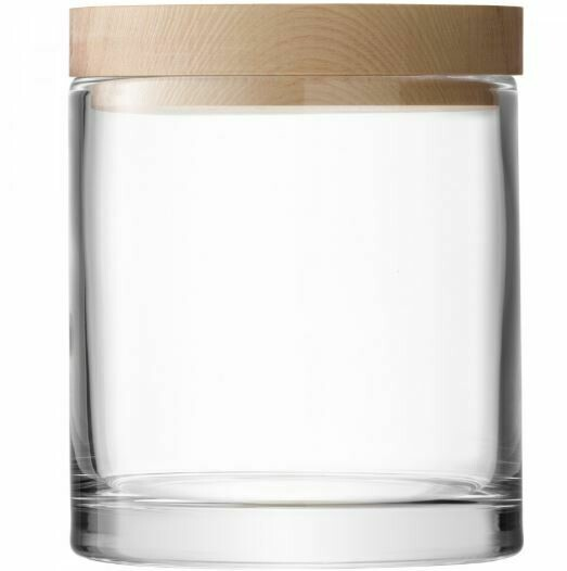 Scandi Glass Container with Ash Top