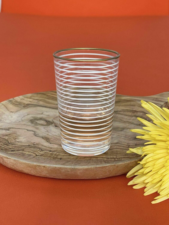 SL049 Tea Glass - Striped - White