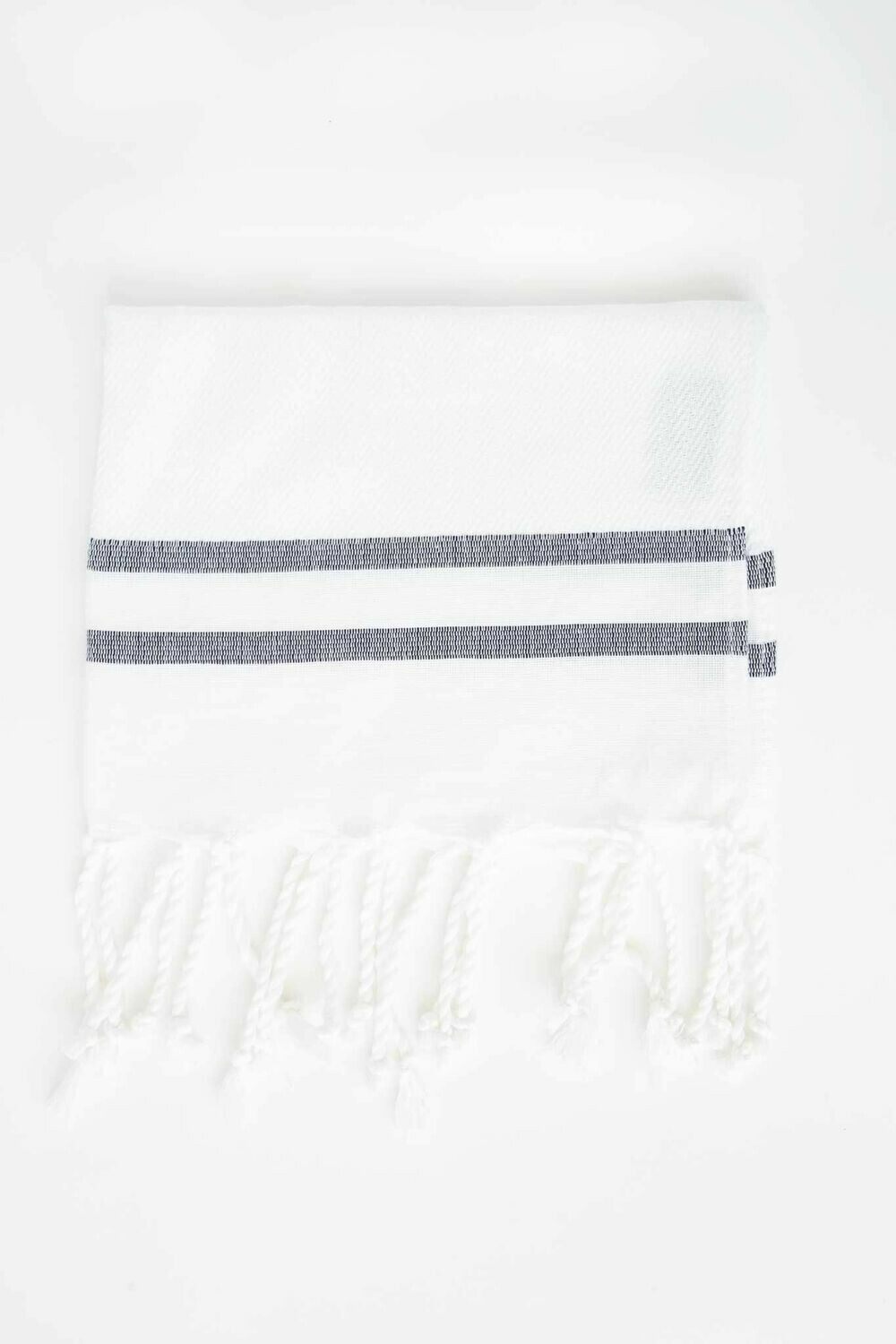 SL011 Guest Towel White + Black Stripe Chevron