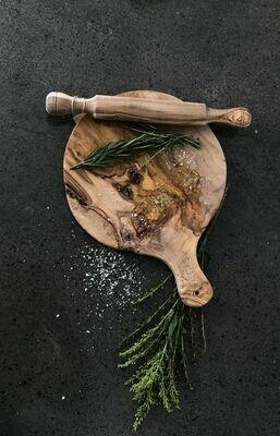 SL046 Olive Wood Round Pizza Board 10