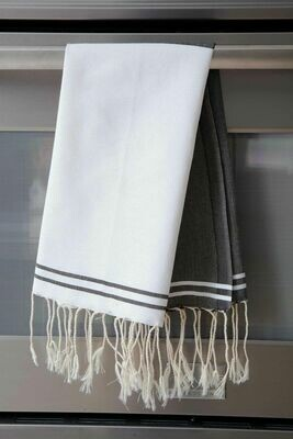 SL108 Guest Towel Half and Half Black + White