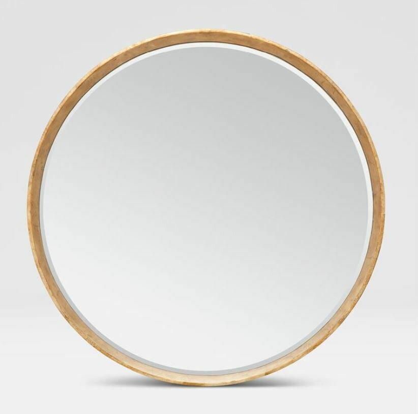 "MG015 Thadeus Gold Mirror 31"""