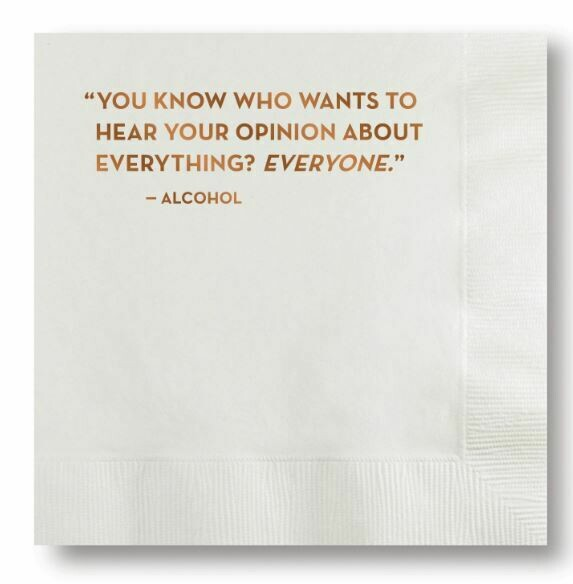 Opinion Cocktail Napkin