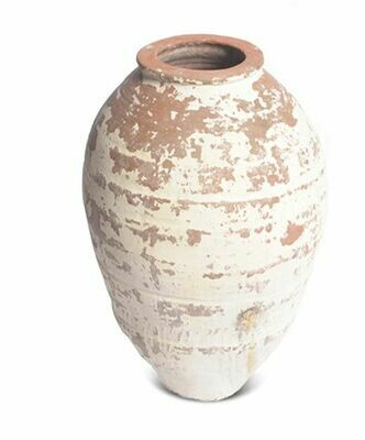 GO004S SMALL Narrow Mouth Whitewashed Terracotta