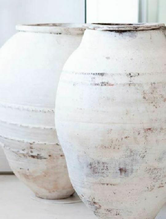 GO004L White Turkish Pot - Large