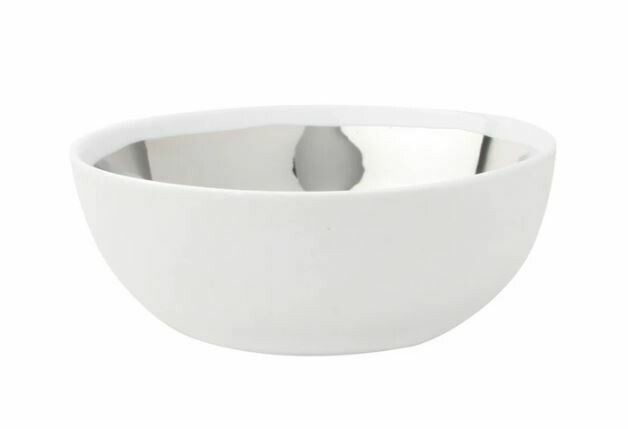CS315 Large Platinum and White Bowl
