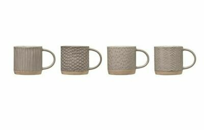 BV155  Grey Reactive Glaze Imprinted MUG