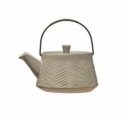 BV156  Stoneware Teapot Grey