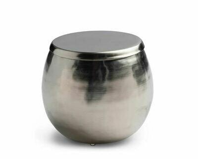 KX026 Hammered  Silver Cotton Jar  4.3