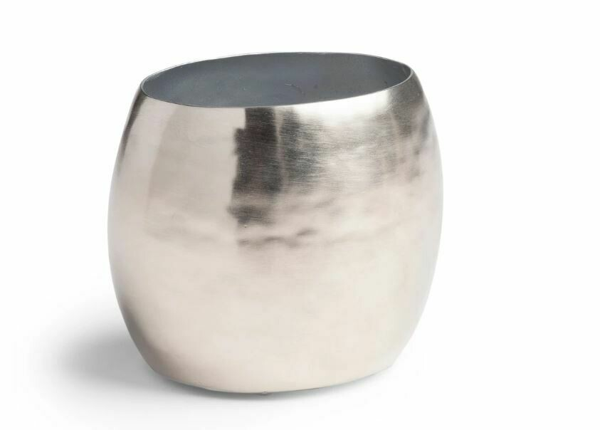 """KX029 Hammered Silver Toothbrush Holder 3.9""""L x 2.8""""W x 3.5""""H"""