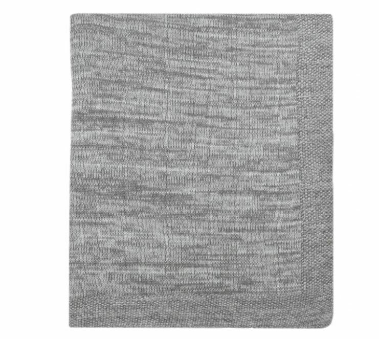 Nigel Knitted Throw GREY + NATURAL