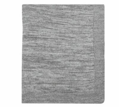 DZ004 Nigel Knitted Throw GREY + NATURAL