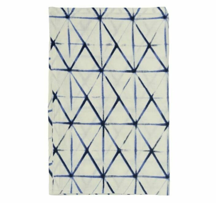 Indigo Clamp Linen Tea Towel