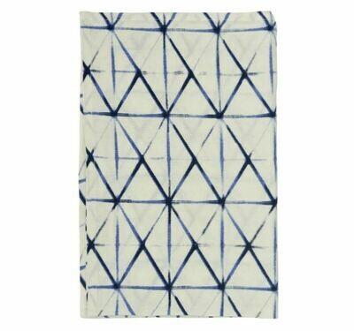 DZ009 Indigo Clamp Linen Tea Towel