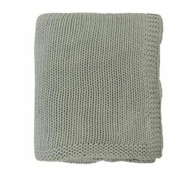 Lauren Knitted Throw GREY