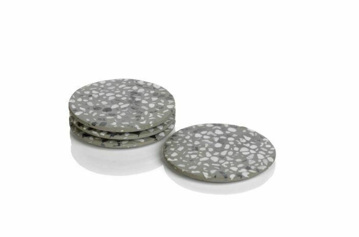 Terrazzo Coasters S/4 Gray