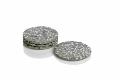 ZX055 Terrazzo Coasters S/4 Gray