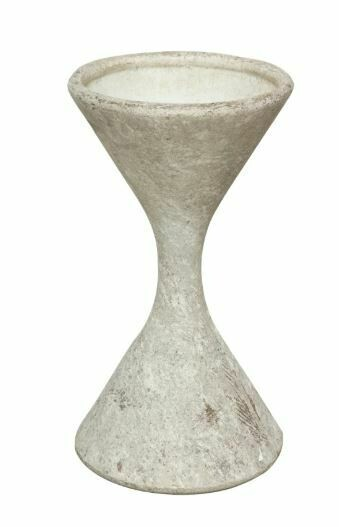 BA011 Willy Guhl Hourglass Planter - SM WHITE