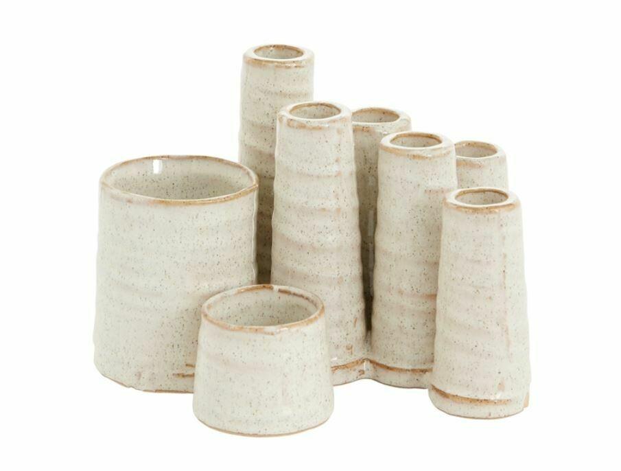 Catalan Stacked Cream Vase