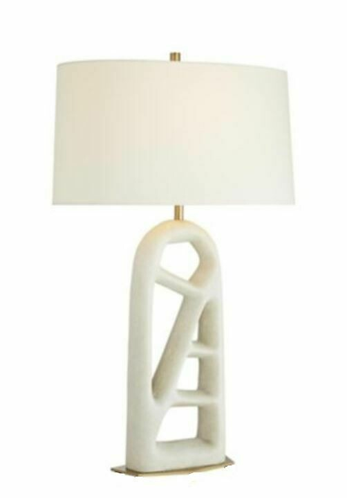 LM610 Wallingren Carved White Lamp