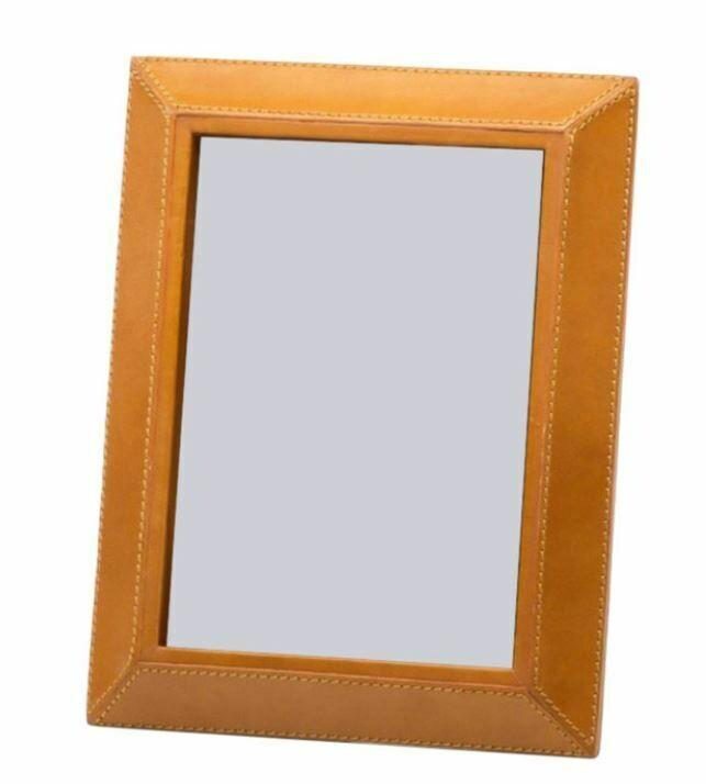 "Cognac Leather Photo Frame 5"" x 7"""