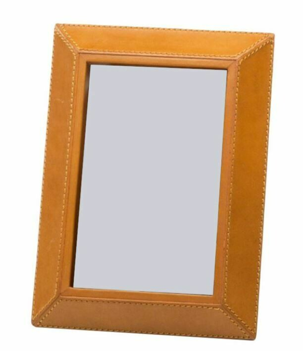"Cognac Leather Photo Frame 4"" x 6"""