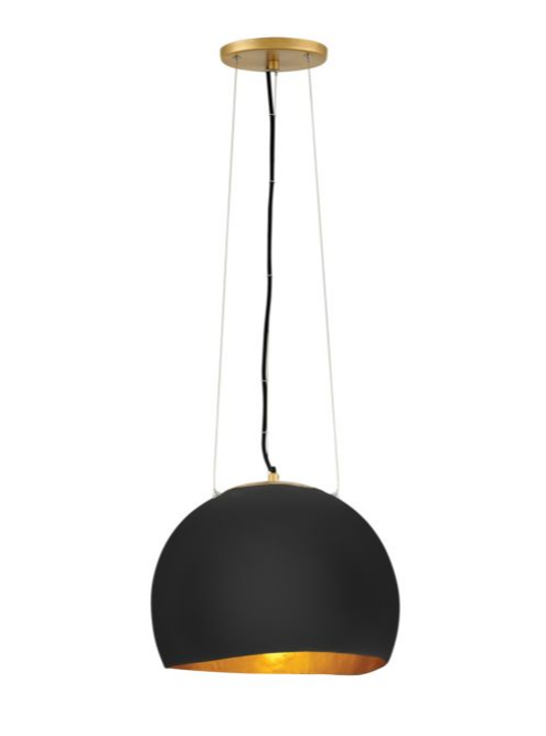Nula Medium Pendant in Black