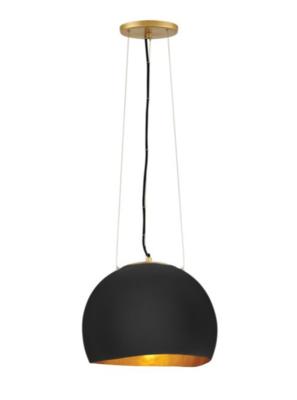 Nula Medium Pendant in Black