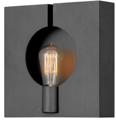 Ludlow Brushed Graphite Sconce