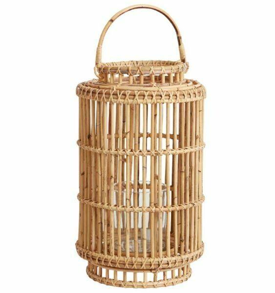 AR225 Indra Black Bamboo Lantern - Small
