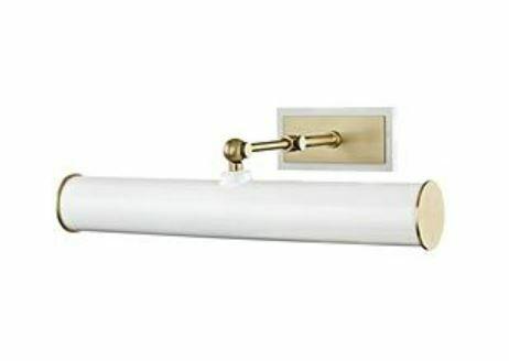 DELPHINE White + Brass Picture Light