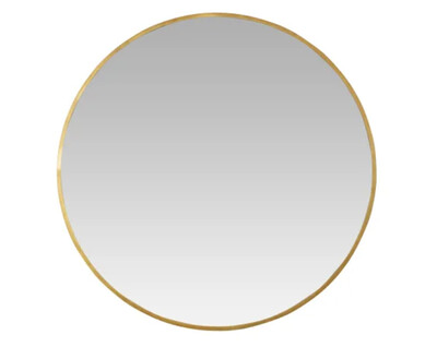 "MILA 42"" Gilded Round Mirror"