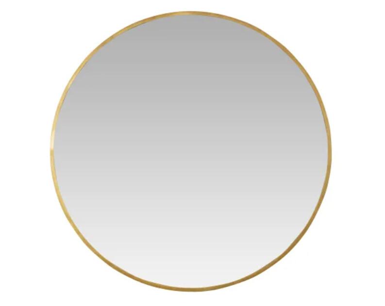 "MILA 36"" Gilded Round Mirror"