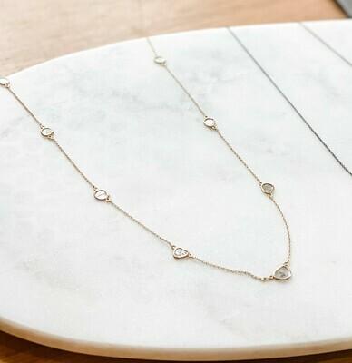 Sliced Diamond Vermeil Necklace 22