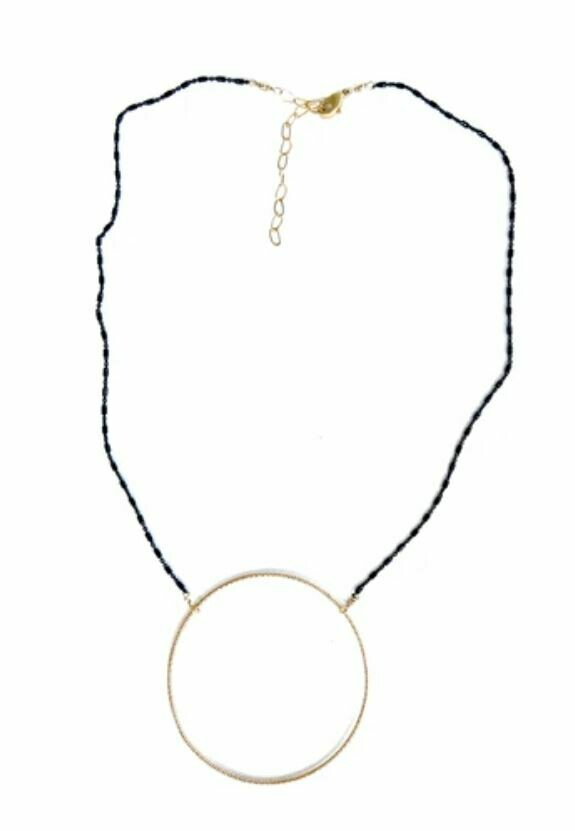 CD033 Silver Circle Necklace