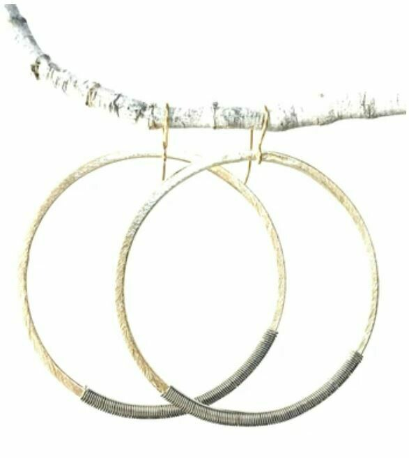 Gold Wrapped Hoops