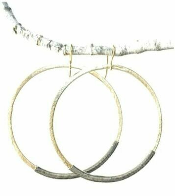 CD025 Gold Wrap Hoops
