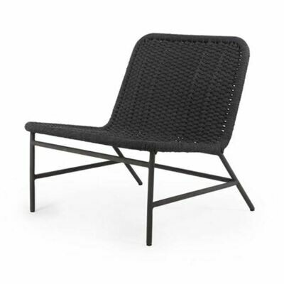 Trina Outdoor Chair-Woven Grey Rope