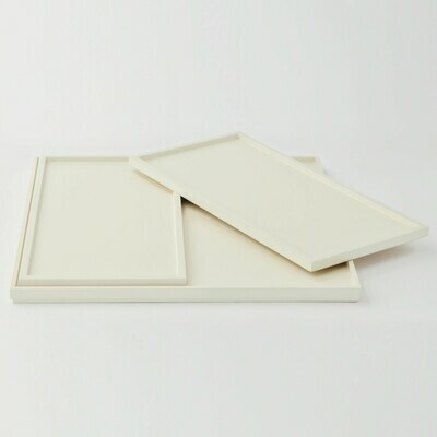 Ivory Wood Inset Trays Set of 3