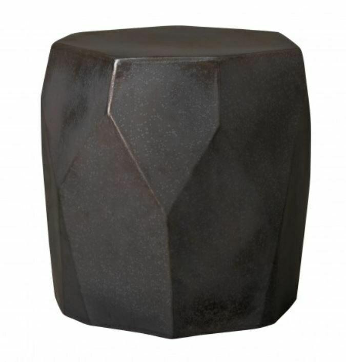 EY003 Faceted Gunmetal Ceramic Stool